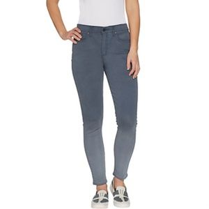 H by Halston Pull-On Ankle Jeans Storm Blue Gray